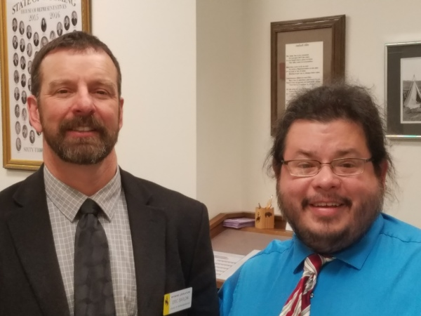Wyoming State Representative, Health Committee Chair, and Veterinarian Eric Barlow meets with Rico Dence Founder of Team Up Cancer