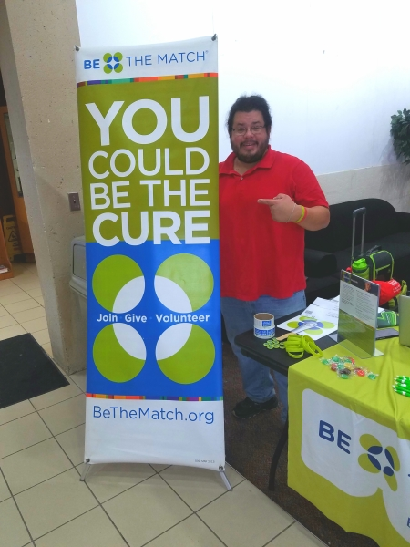 Rico Dence host a bone marrow drive