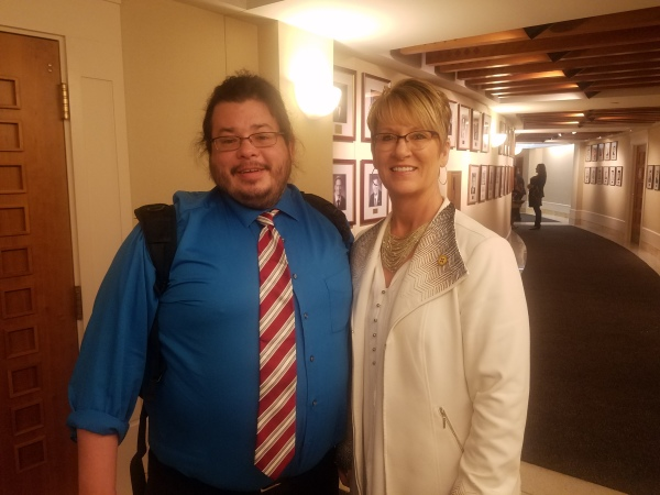 New Mexico State Representative Gail Armstrong has meeting with Team Up Cancer Founder Rico Dence