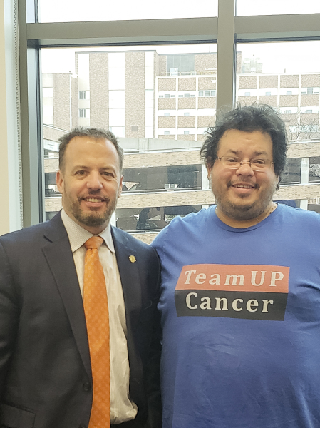 Minnesota State Senator and Medical Doctor Matt D. Klein has meeting with Rico Dence Founder of Team Up Cancer