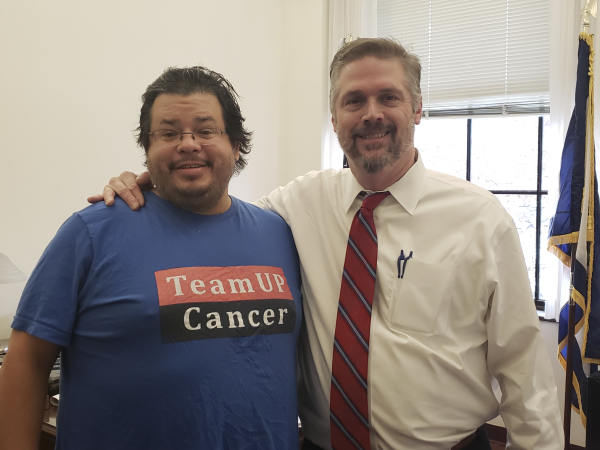 West Virginia State Senator Michael T. Azinger has meeting with Rico Dence Founder of Team Up Cancer
