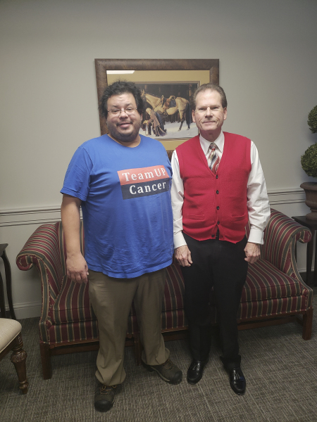 Tennessee State Senator and Medical Doctor Joey Hensley has meeting with Rico Dence Founder of Team Up Cancer