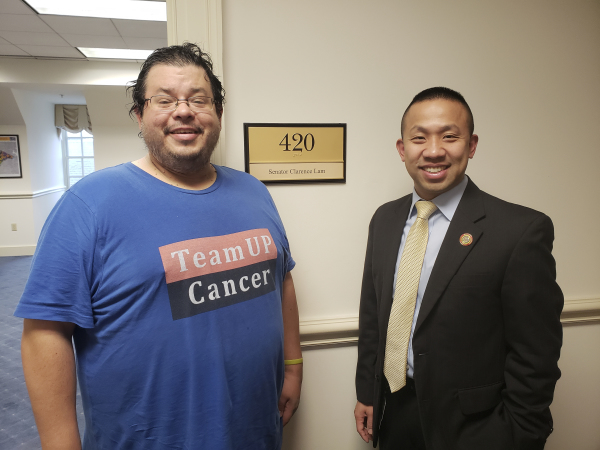 Maryland State Senator Clarence K. Lam has meeting with Rico Dence Founder of Team Up Cancer