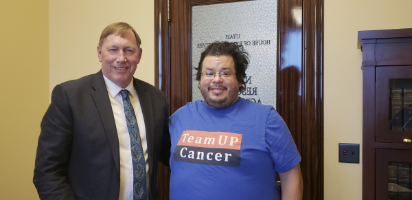 Utah State Representative and Medical Doctor Steward Barlow has meeting with Rico Dence Founder of Team Up Cancer