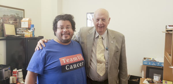 New Mexico Representative  and Medical Doctor William B. Pratt has meeting with Rico Dence Founder of Team Up Cancer