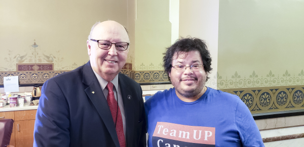 Iowa State Senator Mark Segebart has meeting with Rico Dence Founder of Team Up Cancer