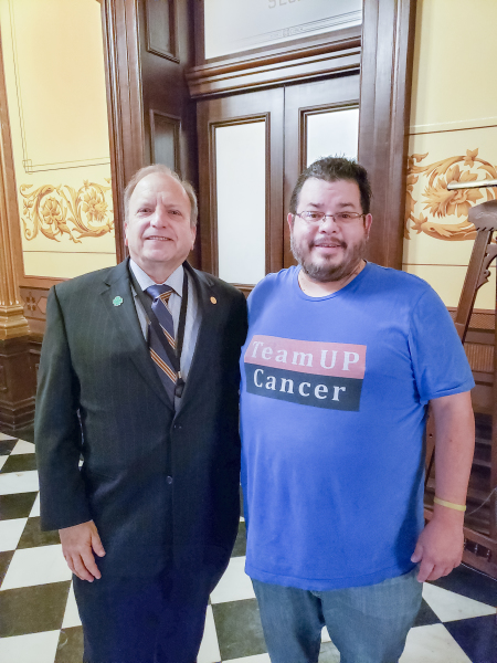 Michigan State Senator M.D. John Bizon has meeting with Rico Dence Founder of Team Up Cancer