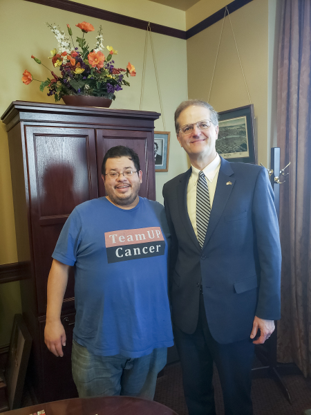 Pennsylvania State Senator Scott E. Hutchinsonhas meeting with Rico Dence Founder of Team Up Cancer