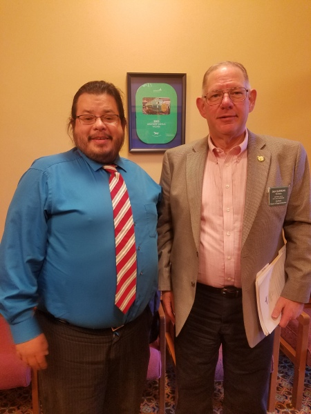 Kansas Representative Daniel Hawkins has meeting with Rico Dence Founder of Team Up Cancer